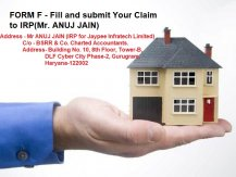 Submit Claim Form F -An appeal to Jaypee Infratech Home buyers