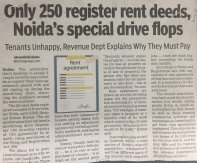 After Noida's Special Drive only 250 rent deads registered