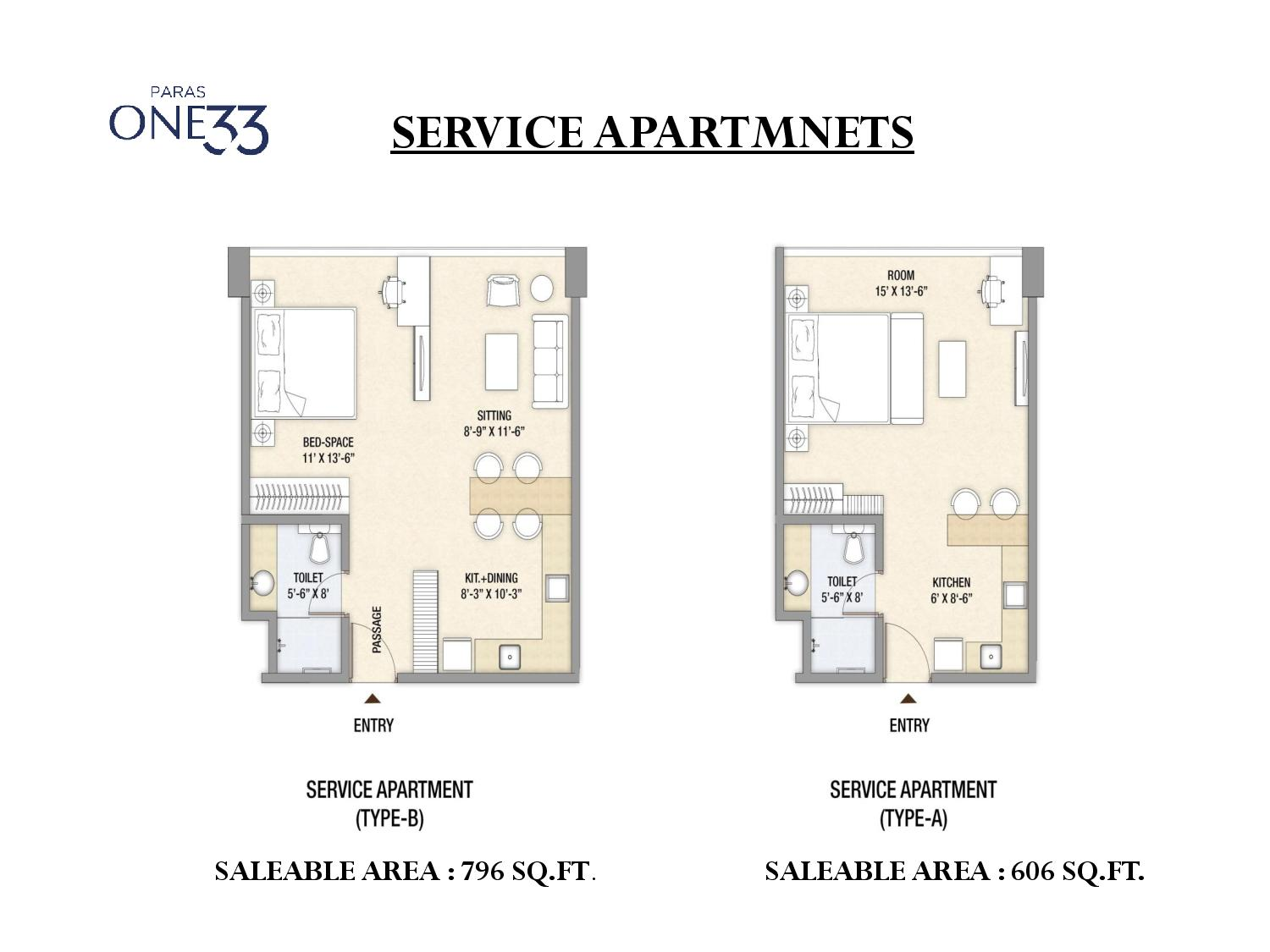 Paras one33 noida retail shops and service apartments for Retail apartment plans