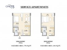 Service apartments layout paras one33 Noida