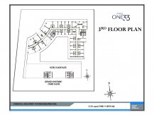 Service apartments 3rd floor plan paras one33 Noida