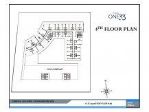 Service apartments 4th floor layout paras one33 Noida