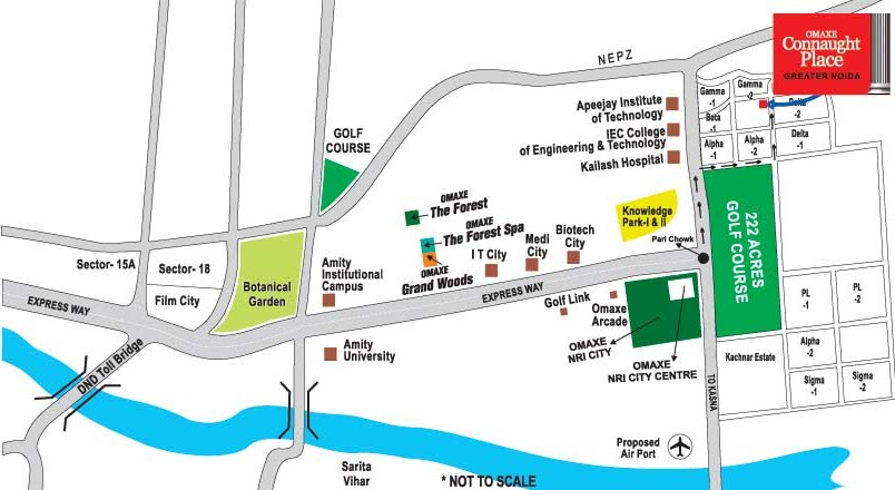 Location map Omaxe Connaught Place