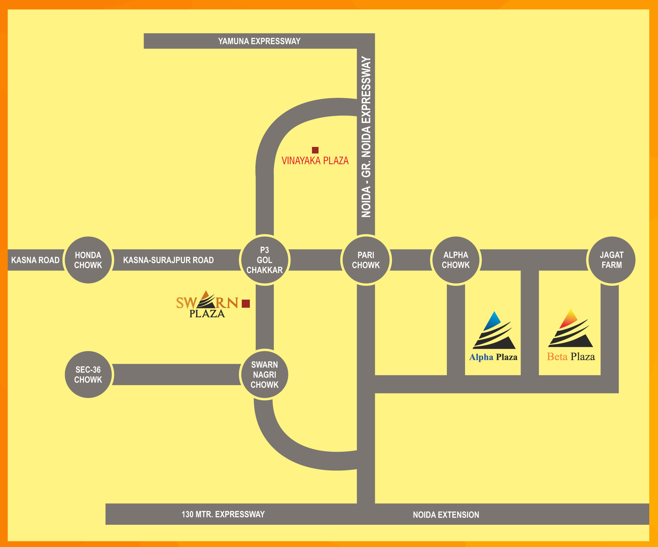 location map swarn plaza