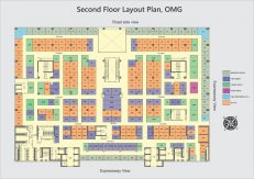 Second floor plan x mall noida
