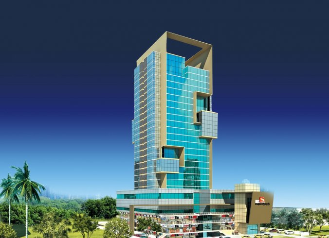 Supertech esquare offices and shops noida expressway