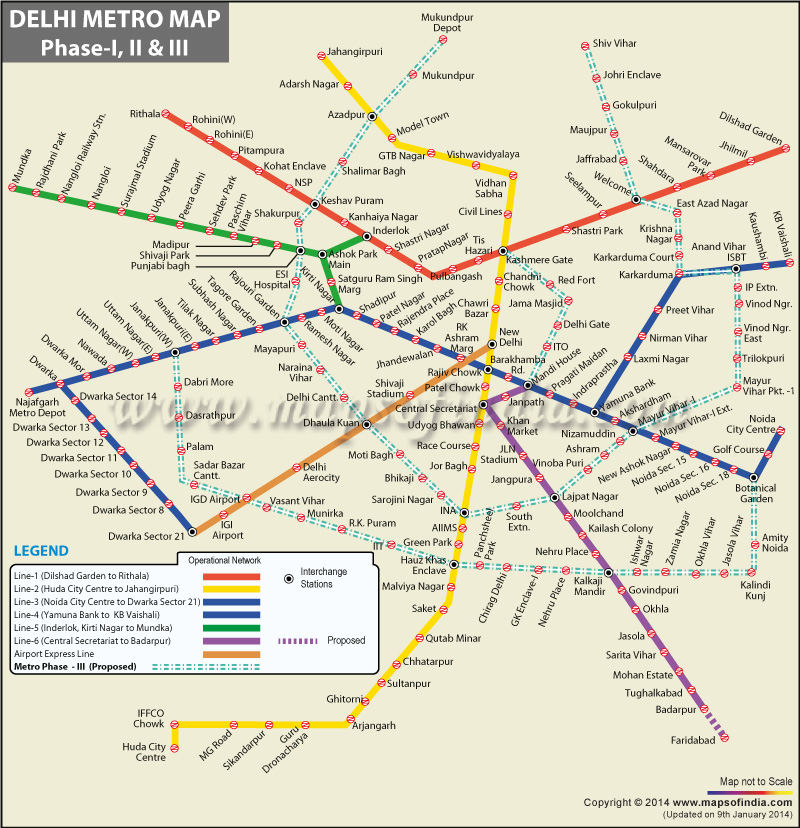 Delhi Subway Map
